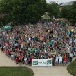 Freshman opening week picnic at The Puck and the group class photo on Sunday, Aug. 17, 2014. (Sam O'Keefe/Missouri S&T)
