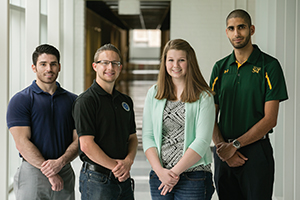 From left: Tyler Martin, Dylan Prévost, Katherine Bartels and Abdalla Bani. Not pictured: Fabrice Tine.