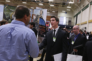 The Missouri S&T Career Fair in the Gale Bullman Multi-Purpose Building on Tuesday, Sept. 23, 2014. ( Sam O'Keefe/Missouri S&T)
