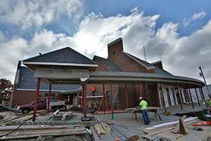 Hasselmann House construction on Friday Oct. 24, 2014.                  Sam O'Keefe/Missouri S&T