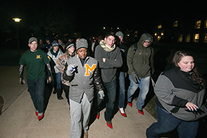 Walk a Mile in Her Shoes on November 12, 2014.    Sam O'Keefe/Missouri S&T