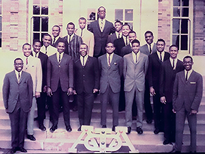 The founding members of the Epsilon Psi chapter of Alpha Phi Alpha.