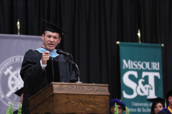 Spring Commencement ceremony with speaker Vince Bertram on May 15, 2015.       Sam O'Keefe/Missouri S&T