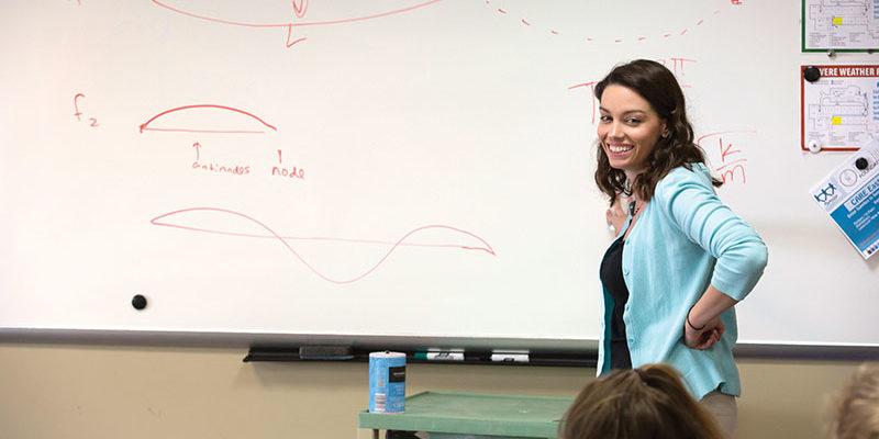 High school teacher leads the way