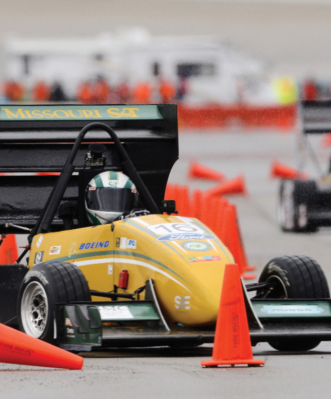 Missouri S&T's Formula Car Design Team won first place out of 30 teams at the Formula North competition in June in Barrie, Ontario. The team also won endurance and autocross events during the competition. In May, the team took seventh place out of 117 teams at the Formula-SAE Michigan. Photo by Bob Phelan