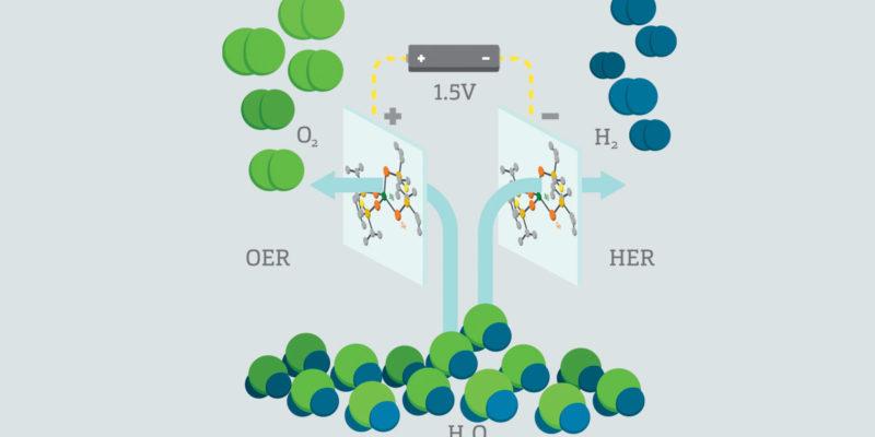 Splitting water, producing hydrogen
