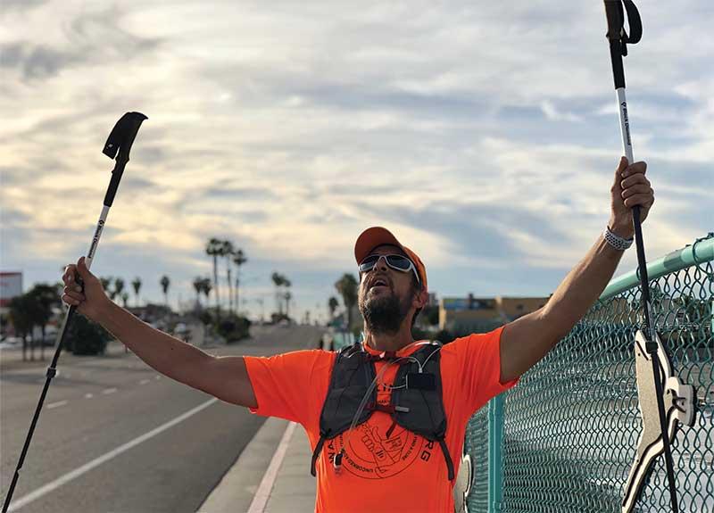 Bucklew walks across America