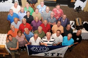 Group photo of Sigma Tau Gamma alumni trip