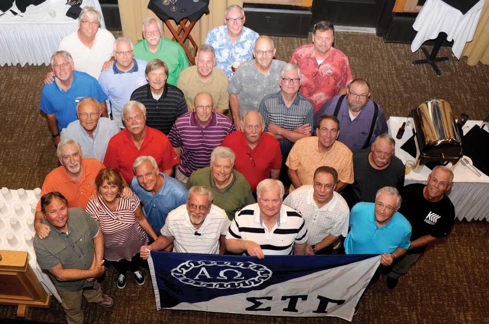 Group photo of Sigma Tau Gamma alumni trip