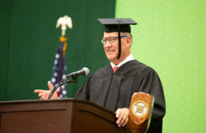 Stephen G. Suellentrop speaking at commencement