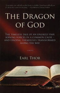 "Cover artwork for the book ""The dragon of God"""