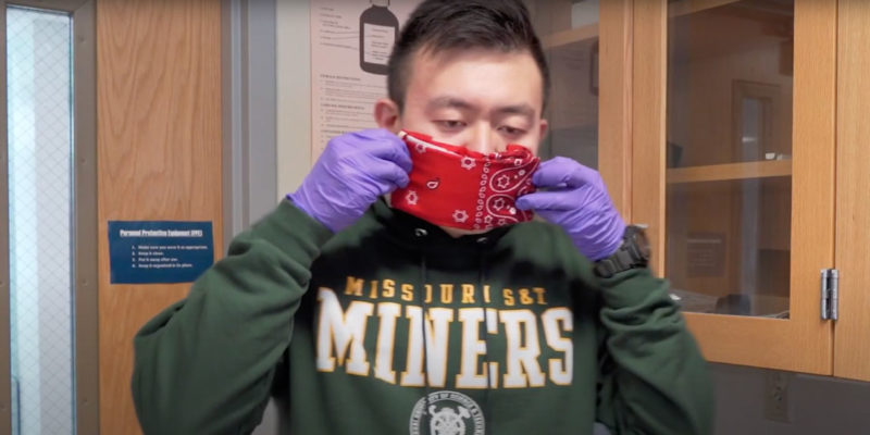 Environmental engineers study face-mask materials